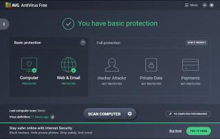 AVG AntiVirus Free Screenshots