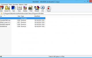 WinRAR Screenshots
