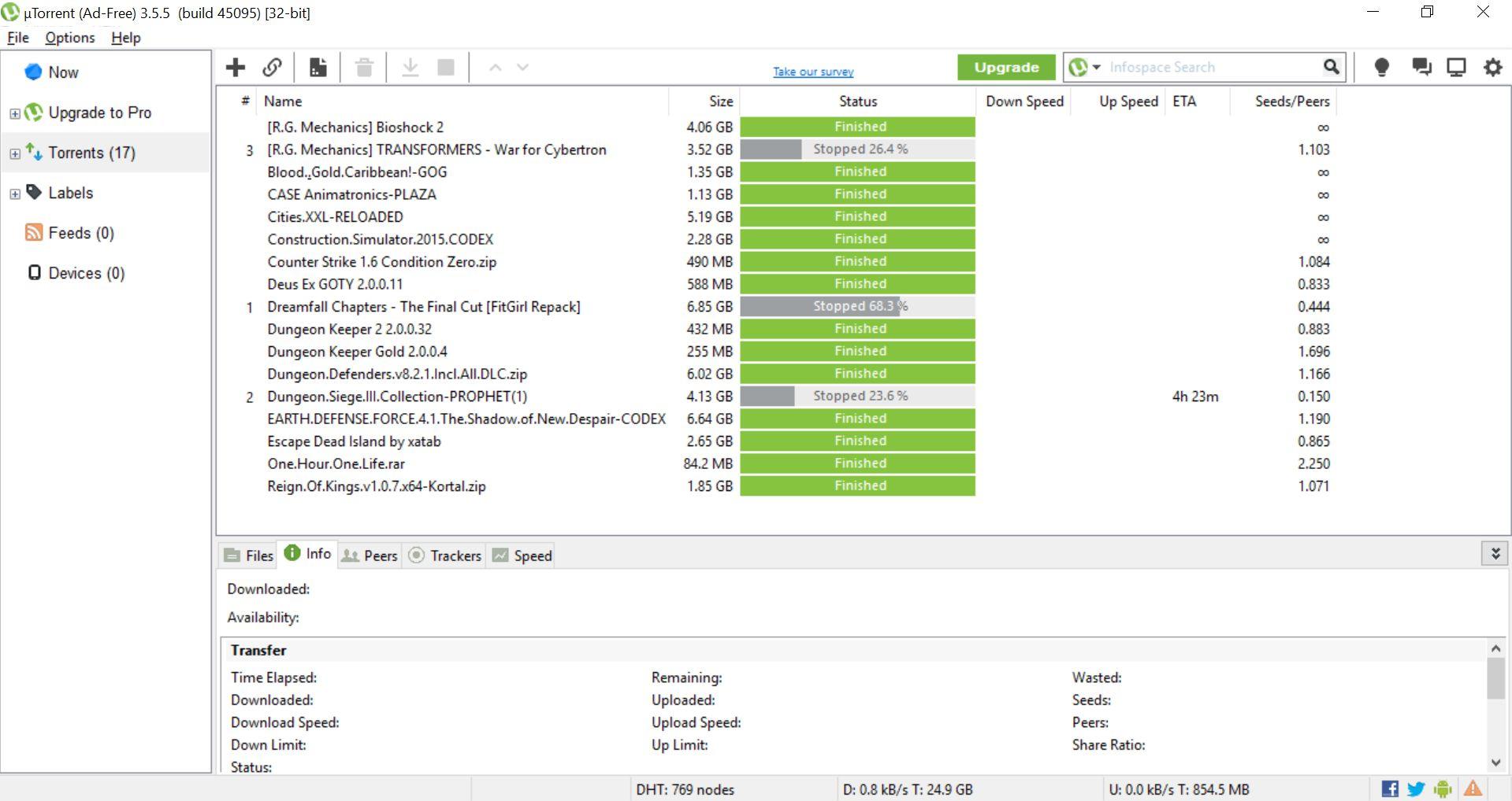 in utorrent download